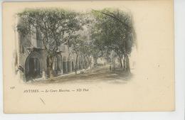 ANTIBES - Le Cours Masséna (carte Précurseur ) - Antibes