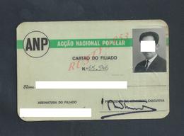 PORTUGAL CARTE ANP ACÇAO NACIONAL POPULAR - Cartes