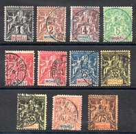 MOHELI - 1906/07 - Cote: 74,00 € - Mohéli (1906-1912)