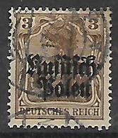 GERMANIA OCCUPAZIONE TEDESCA 1915 DELLA POLONIA  UNIF. 1  USATO VF - Occupazione 1914 – 18