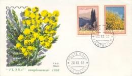 Italia Italy 1968 FDC SILIGATO Flora Italiana Cipresso Ginestra Cypress Juniper - Flora