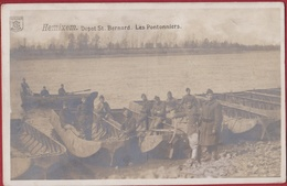 Hemixem Hemiksem ZELDZAME FOTOKAART Genie St Bernard Pontage Pontonniers Belgian Army Armee Belge Ponton Schelde - Hemiksem
