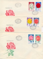 Romania 1970 FDC Flowers Roses On 3 Covers - Rose