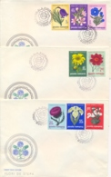 Romania 1970 FDC Flowers Of Steppe On 3 Covers - Flora