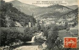 Burzet * Vue Générale Et Cascade De L'enfer Sur La Bourge - Altri Comuni