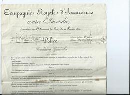 Contrat Police D' Assurance Incendie - EMBRUN - 1821 - Banca & Assicurazione