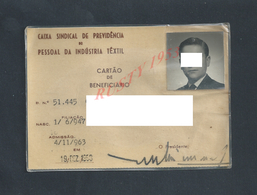 PORTUGAL CARTE INDUSTRIA TÊXTIL 1947 : - Cartes