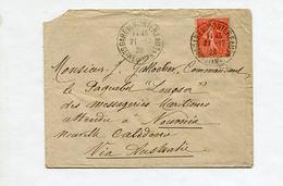 Lettre De Montereau (Seine Et Marne) Pour Le Commandant Du Paquebot Louqsor à Nouméa 1928 - Marcophilie (Lettres)