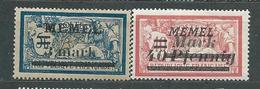 MEMEL  LOT  N°  30+53  *  TB - Memel (1920-1924)