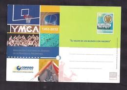 Argentina - 2002 - Entier Postal - YMCA - 1902 - 2002 - Association De La Jeunesse Chrétienne - Christianity