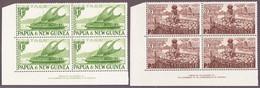 1952 Sechs 4er Blocks Teils Mit Bogeninschrift Postfrisch; Keine Komplette Serie - Papouasie-Nouvelle-Guinée