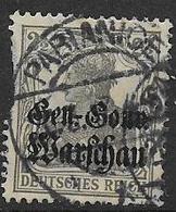 GERMANIA OCCUPAZIONE TEDESCA 1916-17  DELLA POLONIA  UNIF. 6  USATO VF - Occupazione 1914 – 18