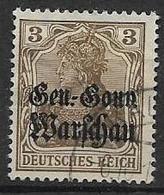 GERMANIA OCCUPAZIONE TEDESCA 1916-17  DELLA POLONIA  UNIF. 7  USATO VF - Occupazione 1914 – 18
