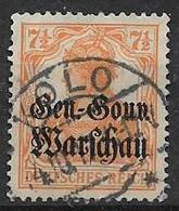 GERMANIA OCCUPAZIONE TEDESCA 1916-17  DELLA POLONIA  UNIF. 9  USATO VF - Occupazione 1914 – 18