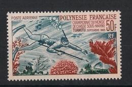 Polynésie - 1965 - Poste Aérienne PA N°Yv. 14 - Chasse Sous-marine - Neuf Luxe ** / MNH / Postfrisch - Tauchen