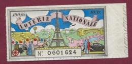 150819B - BILLET LOTERIE NATIONALE 1939 100 FRANCS 10ème TR - Tour Eiffel Calèche Montgolfière - Lottery Tickets