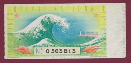 150819B - BILLET LOTERIE NATIONALE 1939 100 FRANCS 16ème TR - Mer Vague Phare Coquillage étoile - Lottery Tickets