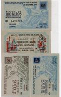 LOT DE 4 BILLETS DE L'O.C.R.PI-SECTION DES FONTES -FERS ET ACIERS -ANNEE 1948 ET 1949 - Buoni & Necessità