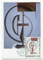 "14237 DANEMARK  N° 2551  5F Robert Jacobsen ""Hommage à Léon Degand""  C.M  P.J.  Du 22/9/88  TB - Cartoline Maximum"