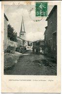 CPA - Carte Postale - France - Neuville-lès-Vaucouleurs - La Rue Du Ruisseau - L'Eglise - 1908 (I9662) - Altri Comuni