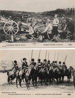 GUERRE14/18-ARMEE RUSSE-INFANTERIE-ARTILLERIE-COSAQUES-SENTINELLE-LOT DE 7 CARTES - Russia