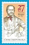 CZ 2018-1006 František Ladislav Rieger, CZECH, 1 X 1v, MNH - Tchéquie