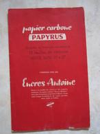 ANCIEN Pochette Papier Carbone PAPYRUS Fabriqué Par Les ENCRES ANTOINE - Other Collections