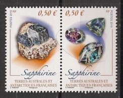 TAAF - 2019 - N°Yv. 884 à 885 - Sapphirine - Neuf Luxe ** / MNH / Postfrisch - Mineralien