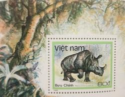 L) 1988 VIETNAM , RINOCERONS, ANIMALS, FAUNA, NATURE, WILDLIFE, MNH - Vietnam