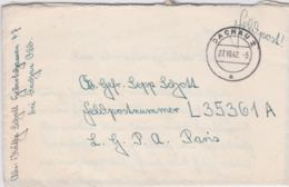 German Feldpost WW2: To Normandy In France - Fallschirmjäger-Regiment 1 (Stab I) FP L35361A LGPA - Militaria