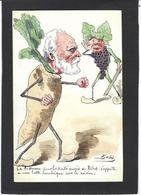 CPA Bobb Satirique Caricature Non Circulé Dessin Original Fait Main Ribot Sucre Betterave Raisin - Satira