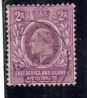 EAST AFRICA ORIENTALE & UGANDA PROTECTORATES 1903 KING EDWARD VII RE EDOARDO 2a USATO USED OBLITERE' - Kenya, Uganda & Tanganyika