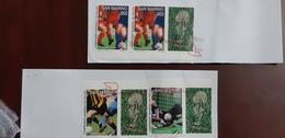 San Marino France 2 Nice Covers Campionati Mondiali Di Calcio Francia 1998 98 - Coupe Du Monde