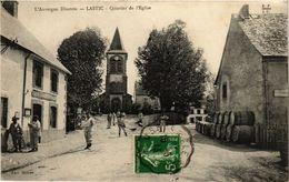 CPA L'Auvergne Illustrée - Lastic - Quartier De L'Église (435920) - France