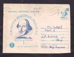 "Roumanie - 1994 - William Shakespeare - Lettre à L'occasion Du ""Festival Caiova Shakespeare"" - 15/20 Novembre 1994 - Schriftsteller"