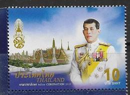 THAILAND, 2019, MNH, ROYALTY, KING CORONATION,1v EMBOSSED STAMP - Königshäuser, Adel