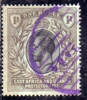 EAST AFRICA ORIENTALE & UGANDA PROTECTORATES 1904 1907 KING EDWARD VII RE EDOARDO 1r USATO USED OBLITERE' - Kenya, Uganda & Tanganyika