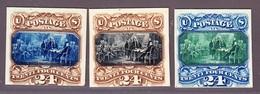 1869 3 Essays 24cent  In Verschiedenen Farben - Unused Stamps