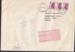 Romania 1992 Cover Brief VALBY (Arr.) REadressed KØBENHAVN S. (Amager) Denmark 3-Stripe - Briefe U. Dokumente