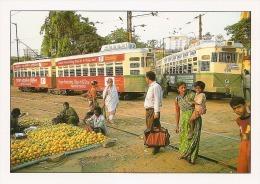 Calcutta Kolkata India Tram Tramway Strassenbahn Tolley Streetcar Market - Inde