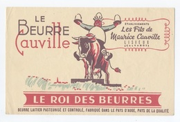 LE BEURRE CAUVILLE DE MAURICE CAUVILLE      --RECTO/VERSO - Z905 - Produits Laitiers