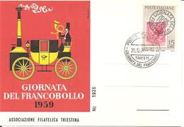 ITALIA - 1959 TRIESTE Giornata Del Francobollo  Su Cartolina Speciale - Giornata Del Francobollo