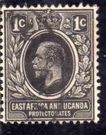 EAST AFRICA ORIENTALE & UGANDA PROTECTORATES 1912 1918 KING KING GEORGE V RE GIORGIO 1c USATO USED OBLITERE' - Kenya, Uganda & Tanganyika