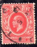 EAST AFRICA ORIENTALE & UGANDA PROTECTORATES 1912 1918 KING KING GEORGE V RE GIORGIO 5c USATO USED OBLITERE' - Protectorados De África Oriental Y Uganda