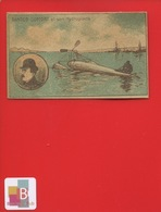 AVIATION Aviateur Aéroplane  HYDROPLANE Santos Dumont  Chromo - Trade Cards