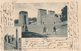 703/29 - EGYPT Ancient Multiple Views Card KARNAK , Editor Not Mentioned - Used LOUXOR 1901 To ITALY - Autres