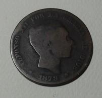 1879 - Espagne - Spain - DIEZ CENTIMOS, (OM), ALFONSO XII, KM 675 - [ 1] …-1931 : Regno