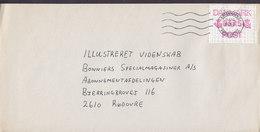 Denmark KØBENHAVNS POSTCENTER 1992 Cover Brief RØDOVRE ATM / Frama Label Single Franking - Vignette Di Affrancatura (ATM/Frama)