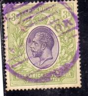 EAST AFRICA ORIENTALE & UGANDA PROTECTORATES 1912 1918 KING KING GEORGE V RE GIORGIO 3r USATO USED OBLITERE' - Protectorados De África Oriental Y Uganda