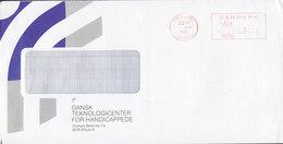 DANSK TEKNOLOGICENTER FOR HANDICAPPEDE Graham Bells Vej, Århus MIDTJYLLANDS POSTCENTER 1991 Meter Cover Brief - Dänemark